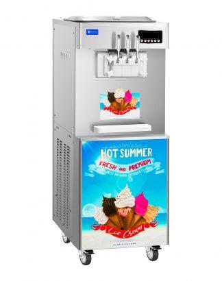 Stroj na točenú zmrzlinu - 1700 W - 14 l - 3 príchute - 1