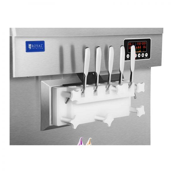 Stroj na točenú zmrzlinu - 2400 W - 18 l - 5 príchutí - 4