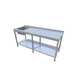 Umývací stôl s policou dlhý T-AUSPV-1