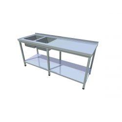 Umývací stôl s policou dlhý T-AUSPV-2