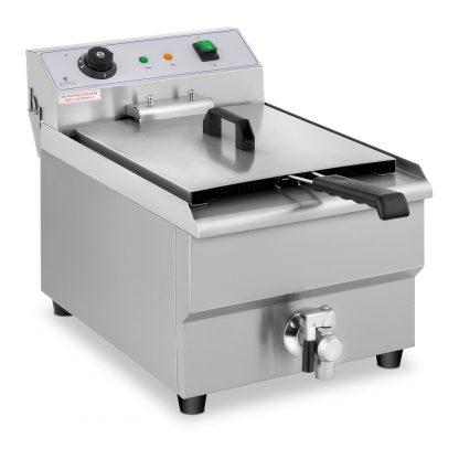 Elektrická fritéza - 16 litrov - vypúšťací kohút - 230 V - 1