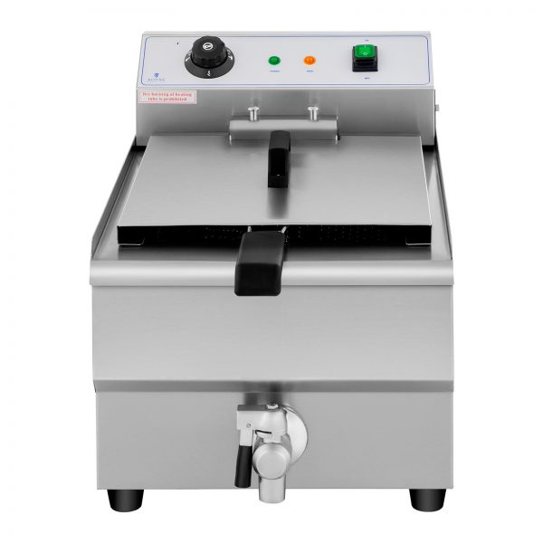 Elektrická fritéza - 16 litrov - vypúšťací kohút - 230 V - 2