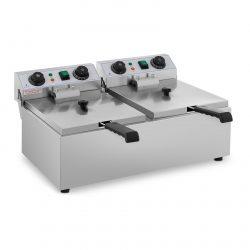 Elektrická fritéza - 2 x 10 litrov - časovač - 230 V - 1