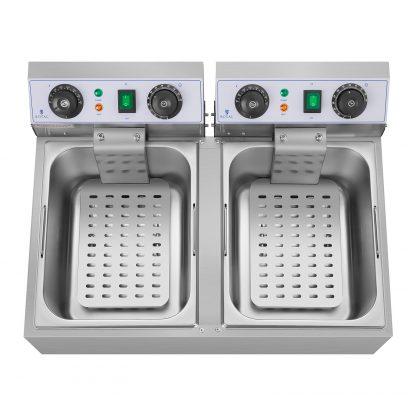 Elektrická fritéza - 2 x 10 litrov - časovač - 230 V - 2