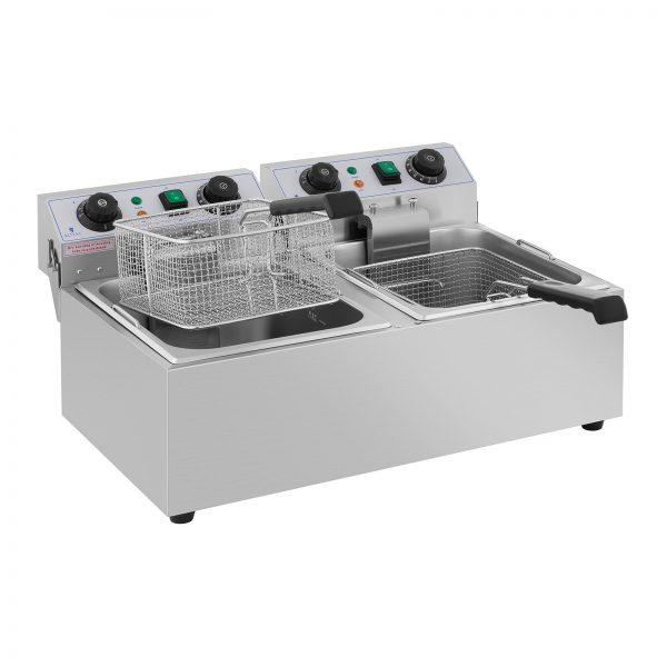 Elektrická fritéza - 2 x 10 litrov - časovač - 230 V - 4
