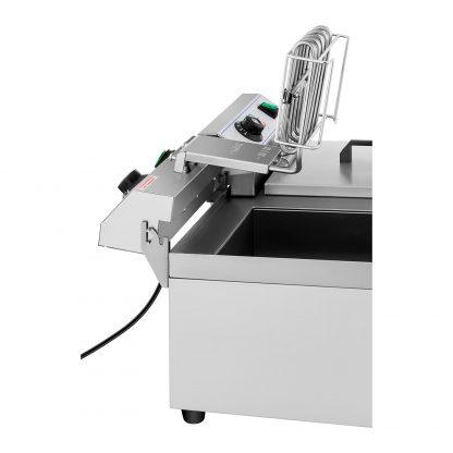Elektrická fritéza - 2 x 10 litrov - vypúšťacie kohúty - 230 V - 3