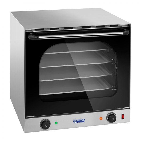 Elektrická teplovzdušná pec bez ZAVLHČOVANIA RCCO-2.0 vynikajúca na prípravu pizze, koláčov aknedlíkov príprava viacerých jedál súčasne konvekcia - cirkulácia tepla pre lepšie pečenie ohrev pece na maximálnu teplotu 300 ° C časovač naprogramuje čas pečenia v rozsahu 0 - 120 min 4 úrovne pečenia sdržiakom plechov 2 ventilátory sa postarajú ovynikajúce pečenie