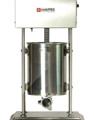 Elektrická plnička klobás 10 L | cookPRO výborný nástroj na profesionálnu výrobu rôznych druhov klobás, jaterníc, salám a iných domácich mäsiarskych výrobkov. Nerezové prevedenie.