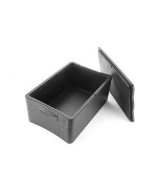 Termobox GN 1/1 230 mm | 38,7 L z z polypropylénovej peny s vysokou hustotou. Možnosť umiestniť GN nádoby, napr.: 2x GN 1/1 (H) 100 mm alebo 3x GN 1/1 (H) 65 mm alebo 6x GN 1/2 (H) 65 mm alebo iné usporiadanie.