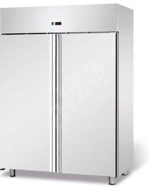 Chladiaca skriňa NORDline | TN 1400 nerez, automatické odmrazovanie, ventilované chladenie, digitálny termostat, zámok, samozatváracie dvere.