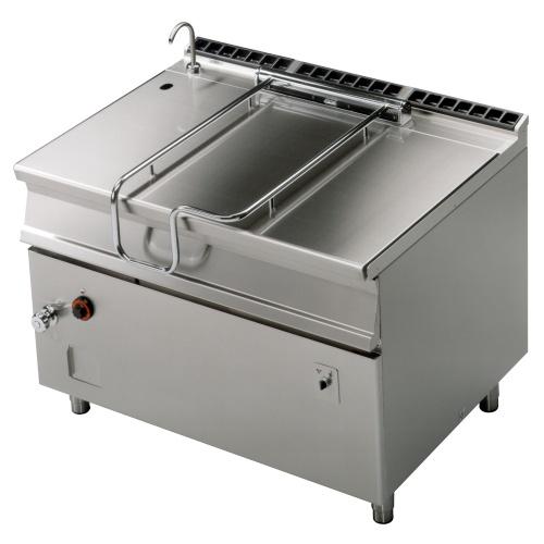 Panva smažiaca plynová - zliatinová elektrické sklápanie120 L, 1200/900 | BRM120-912G, regulácia teploty: 50-300°C, prívod vody, elektronické zapaľovanie.