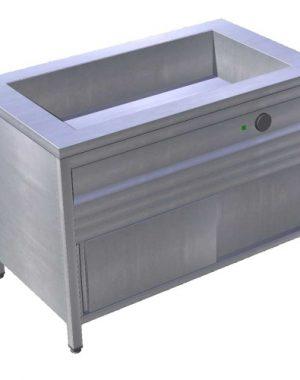 Pult výdajný ohrevný s režónom 4XGN1/1 | zváraná vaňa EOSK. Nedelená zváraná vaňa. Príkon 5kW/400V. Kapacita: 4 x GN1/1 - 200mm.