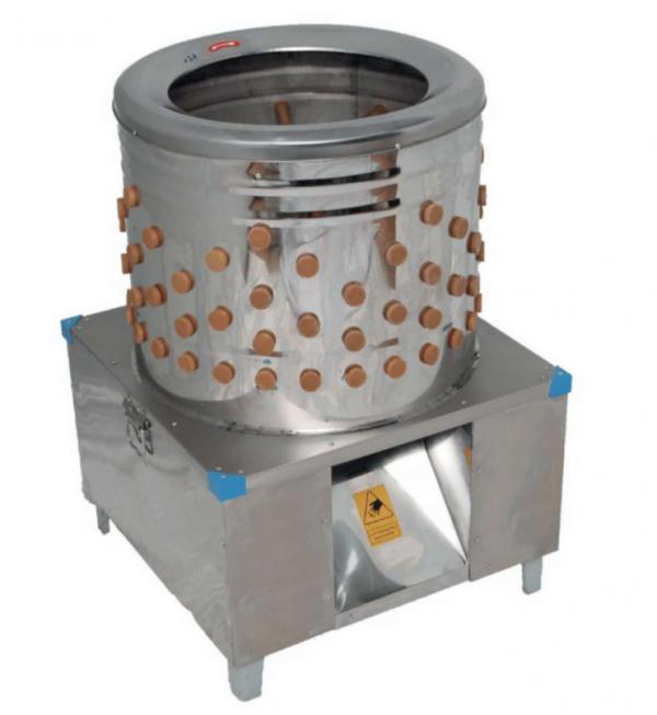 Šklbačka hydiny 270 kg/h | 570050001 profesionálna šklbačka na kurčatá pre chovateľov alebo farmy. S výkonom 1,5 kW dokáže ošklbať až 3-4 kurčatá za minútu.
