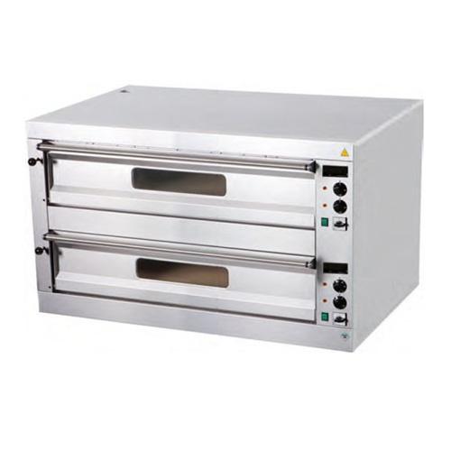 Pizza pec 2X6, celošamotové dosky   digitálny teplomer P-12, odvetranie komory, dvojpodlažné prevedenie, regulácia teploty: 4 x termostat 50-450°C.