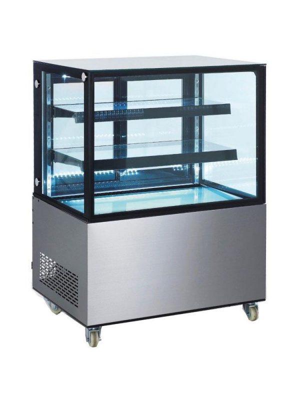 Chladiaca vitrína 2-policová 410 l | Hendi 233450, s LED osvetlením políc, digitálny termostat a displej, nerezové prevedenie.