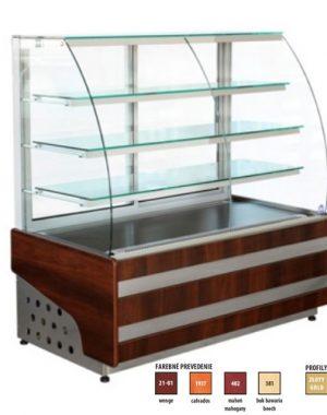 Chladiaca vitrína 300 L | WCH1/C-ESTERA-95, ventilované chladenie, prevádzková teplota: +5/+15°C, teplota okolia do +25°C.