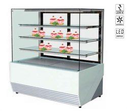 Chladiaca vitrína 320 L | WCH1/CP-OLIMPIA-97, ventilované chladenie, predné sklo neotvoriteľné, elektronická riadiaca jednotka.
