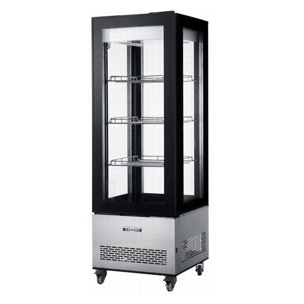 Chladiaca vitrína | NORDLINE RT 400L, nerezové prevedenie, ventilované chladenie, LED osvetlenie vitríny, trojité izolačné skla.
