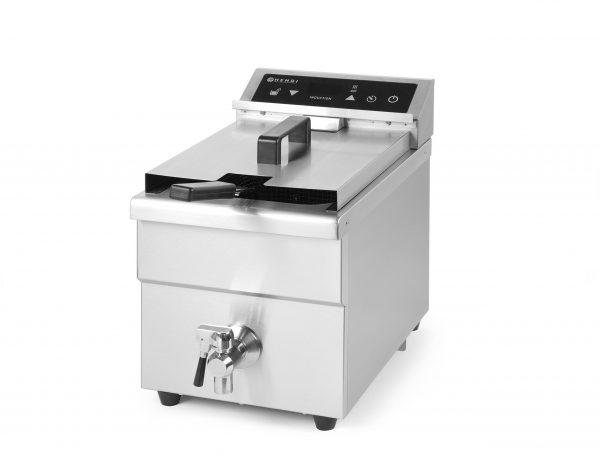 Indukčná fritéza 8L Kitchen Line | Hendi 215012, funkcia časovača - odpočet času, teleso z nehrdzavejúcej ocele, jednoduchá údržba.
