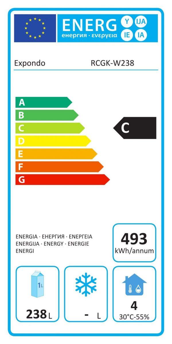 Chladnička nápojov LED - 238 L RCGK-W238 - 7