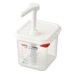 Plastový dávkovač dressingu GN16