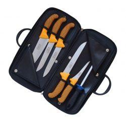 Súprava mäsiarskych nožov - PROFI LINE - žltá KDS 2672