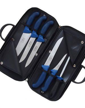 Súprava mäsiarskych nožov - PROFI LINE - modrá KDS 2674