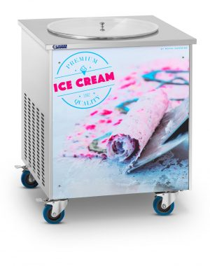Stroj na thajskú zmrzlinu - rolovaná zmrzlina - 50 cm RCFI-1O - 1