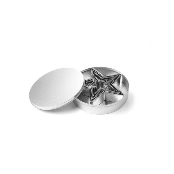 Cukrárska forma na vyrezávanie - hviezda - sada 9 kusov   673768