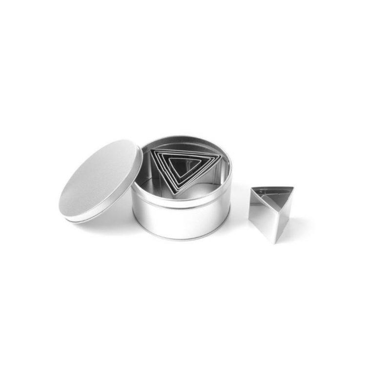 Cukrárska forma na trojhranné vyrezávanie - 6 kusov | 673775
