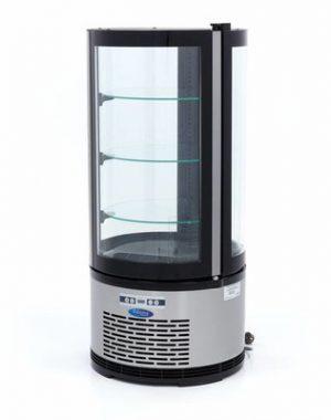 Maxima chladiaca vitrína okrúhla - 100 l - čierna