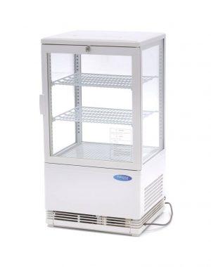 Maxima chladiaca vitrína s displejom - 58 l - biela