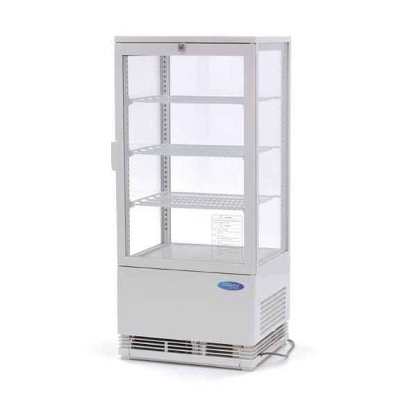 Maxima chladiaca vitrína s displejom - 78 l - biela