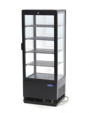 Maxima chladiaca vitrína s displejom - 98 l - čierna