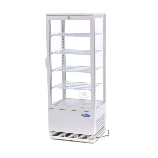 Maxima chladiaca vitrína s displejom - 98 l - biela