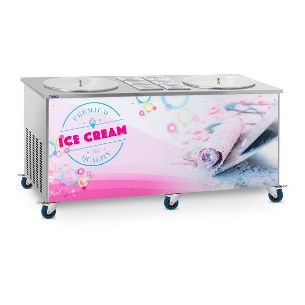 Stroj na thajskú zmrzlinu - rolovaná zmrzlina - 2 x 50 cm RCFI-2O-6 - 1