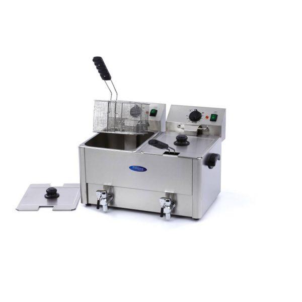 Maxima Elektrická fritéza s kohútikom - 2 x 8 l | 09300416