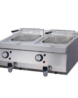 Maxima Elektrická profesionálna fritéza s kohútikom - 2 x 12 l | 09394999
