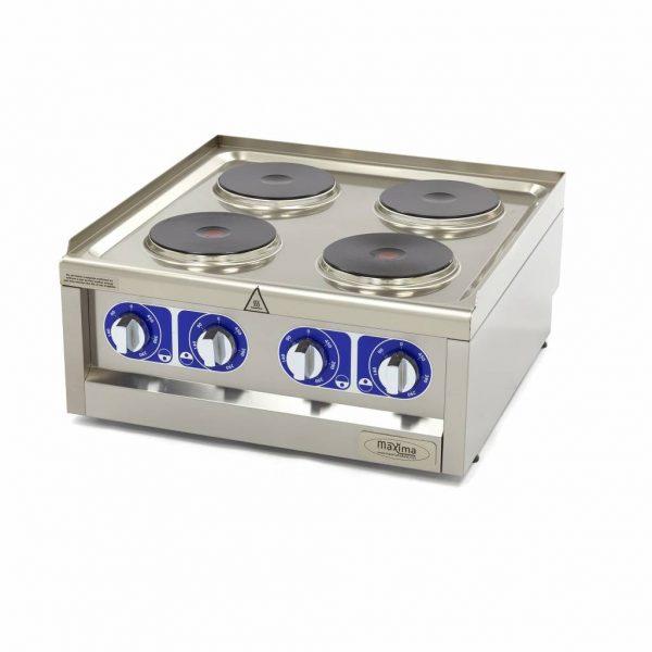 Maxima Komerčný elektrický sporák - 4 horáky - 60x60 cm | 09391530