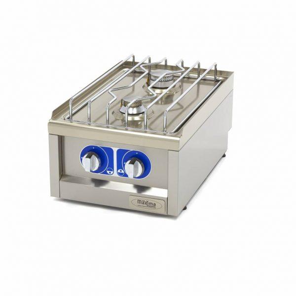 Maxima Komerčný plynový sporák - 2 horáky - 40x60 cm | 09391510