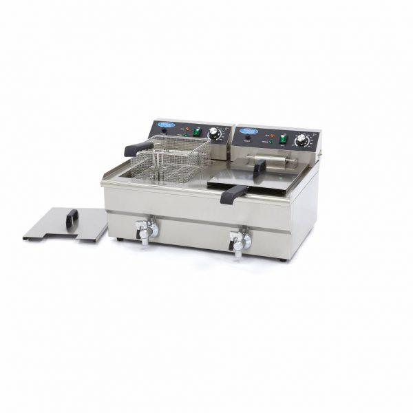 Maxima elektrická fritéza s kohútikom - 2 x 16 l | 09365011