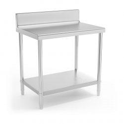 Pracovný stôl - 90 x 60 cm - so zadným lemom | RCAT-90/60-N