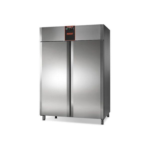 NORDline chladnička | TN 1400 Perfekt nerez, automatické odmrazovanie, nastaviteľné roštové police 6 ks, vnútorný priestor pre GN 2/1.