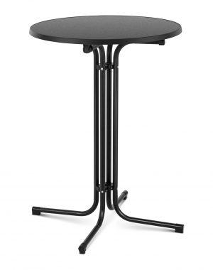 Barový stôl- čierny - skladací - Ø80 cm - 110 cm | RC-BIS80FB