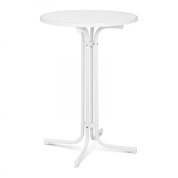 Barový stôl - biely - skladací - Ø80 cm - 110 cm RC-BIS80FW-1