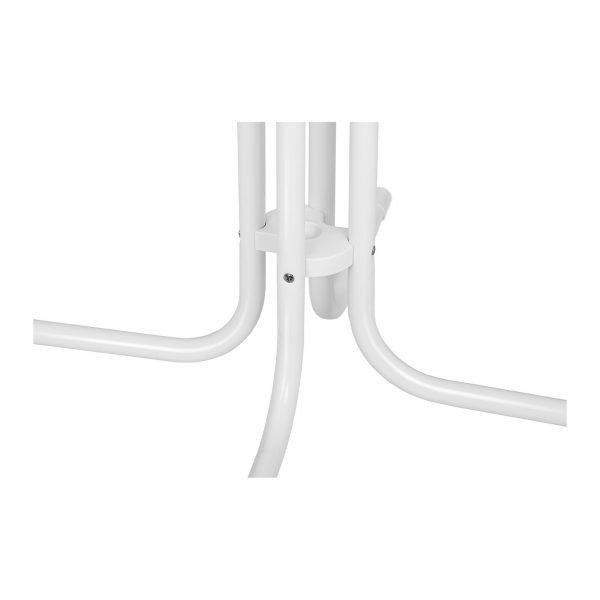Barový stôl - biely - skladací - Ø80 cm - 110 cm RC-BIS80FW-4