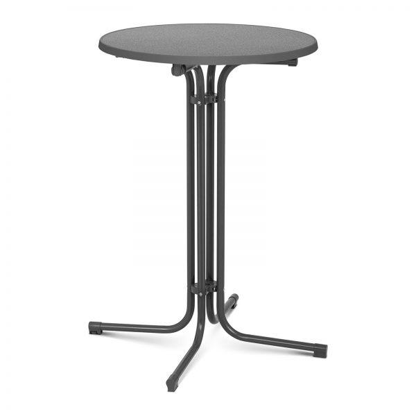 Barový stôl - šedý - skladací - Ø70 cm - 110 cm RC-BIS70FG -1