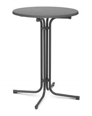 Barový stôl - šedý - skladací - Ø80 cm - 110 cm RC-BIS80FG-1