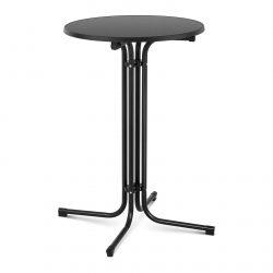 Barový stôl - čierny - skladací - Ø70 cm - 110 cm | RC-BIS70FB