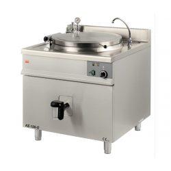 Elektrický varný kotol s okrúhlym duplikátorom | KE-150-O, nepriamy ohrev, vnútro z vysokvalitného nerezového materiálu AISI 316L.